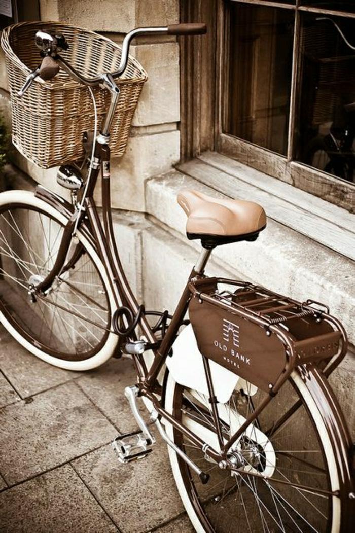 Fahrrad-retro-Design-schwarz-weiß