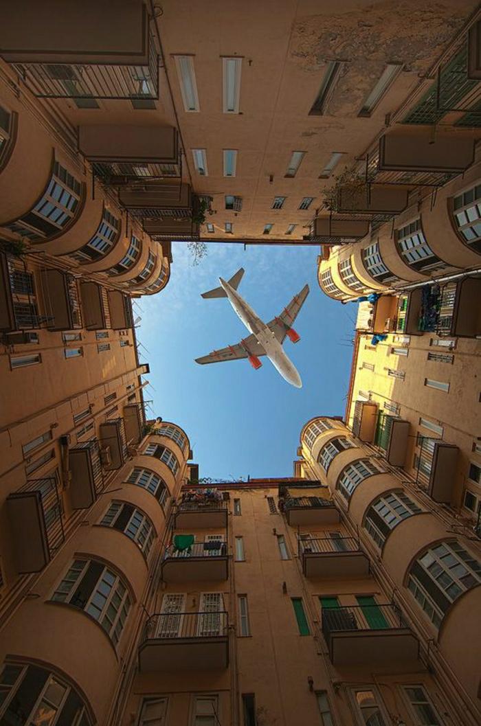 Flugzeug-Wohngebäude
