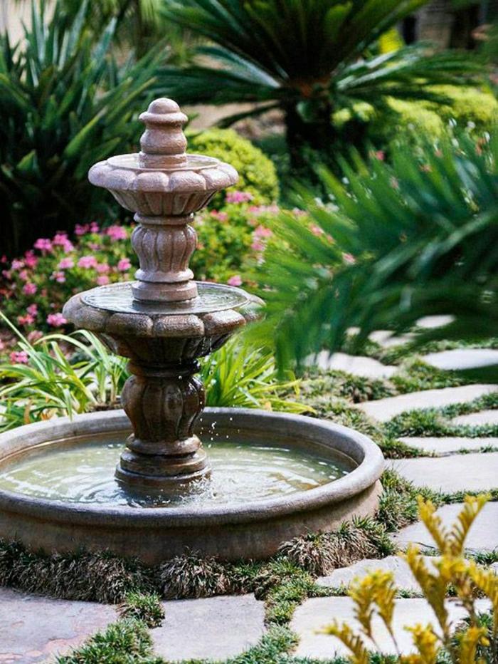 Garten-Pflanzen-Wasserbrunnen
