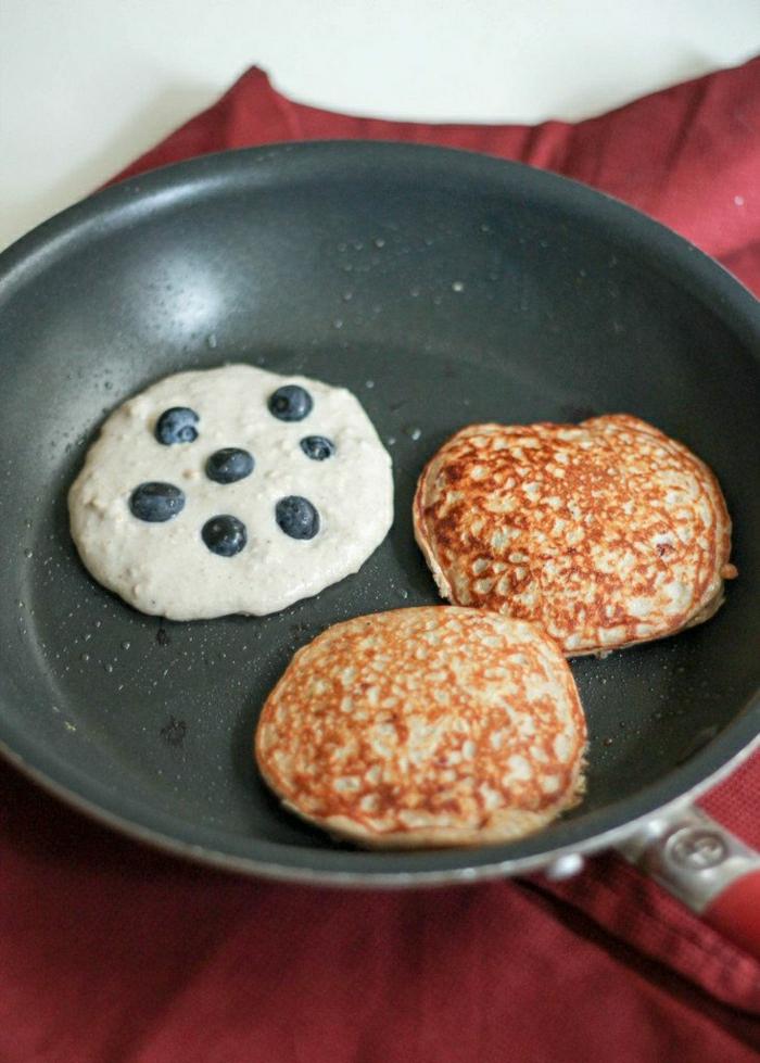 Haferflocken-Blaubeeren-Joghurt-Pfannkuchen-glutenfrei