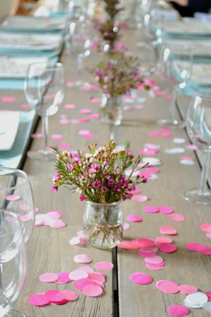Hochzeit-Tischdekoration-Gläser-Blumen-Party-Schmuck