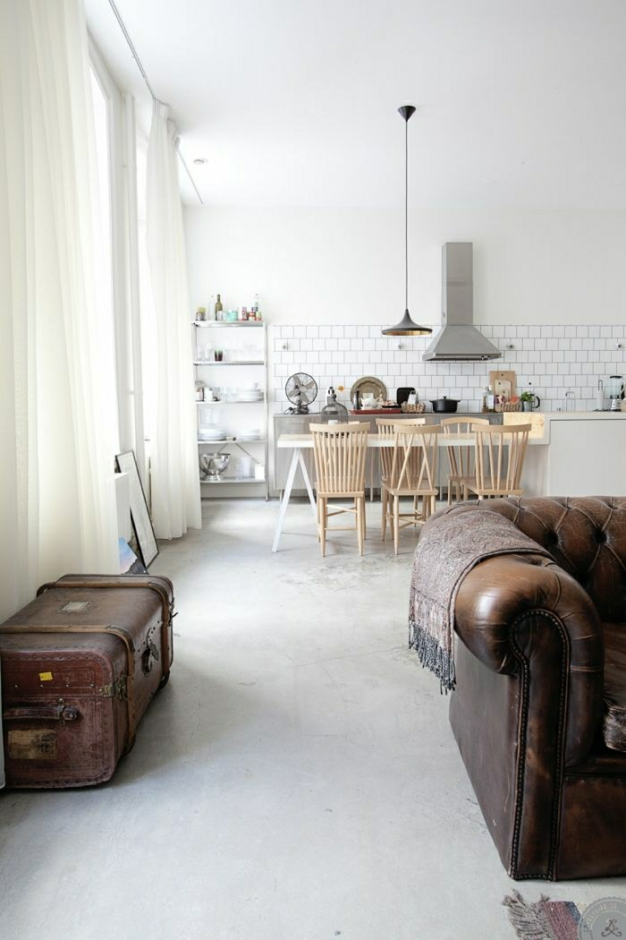 Küche-Esszimmer-industrial-Chesterfield
