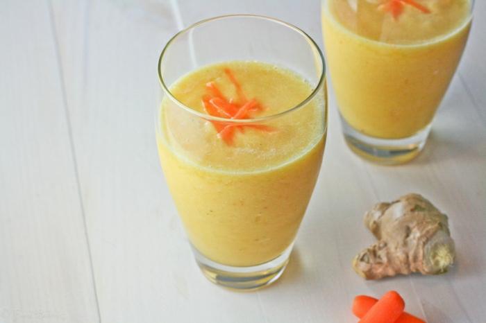 Karotte-Ingwer-Orange-Smoothie