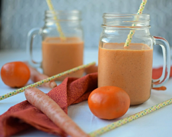 Karotte-Mandarine-Smoothie