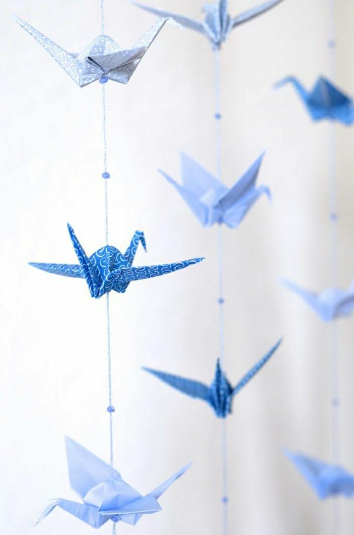 Kinderzimmer-Deko-hängende-Origami-Kranich