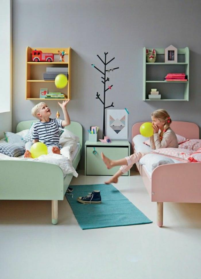 Kinderzimmer-skandinavisches-Interieur-Kinder-Spielzeuge