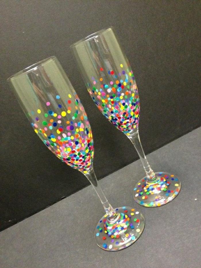 Konfetti-Champagner-Gläser