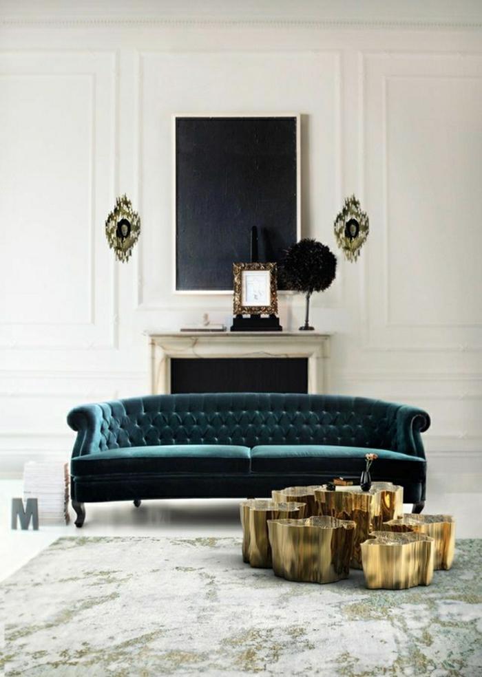 Luxus-Zimmer-modernes-Design-Chesterfield-Samt