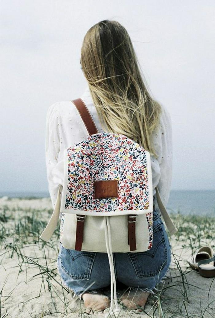 Mädchen-Rucksack-Textil-Leder-bunt