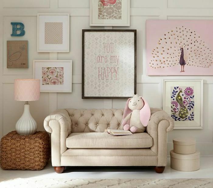 Mini-Chesterfield-rosa-beige-Gestaltung-Plüschtier