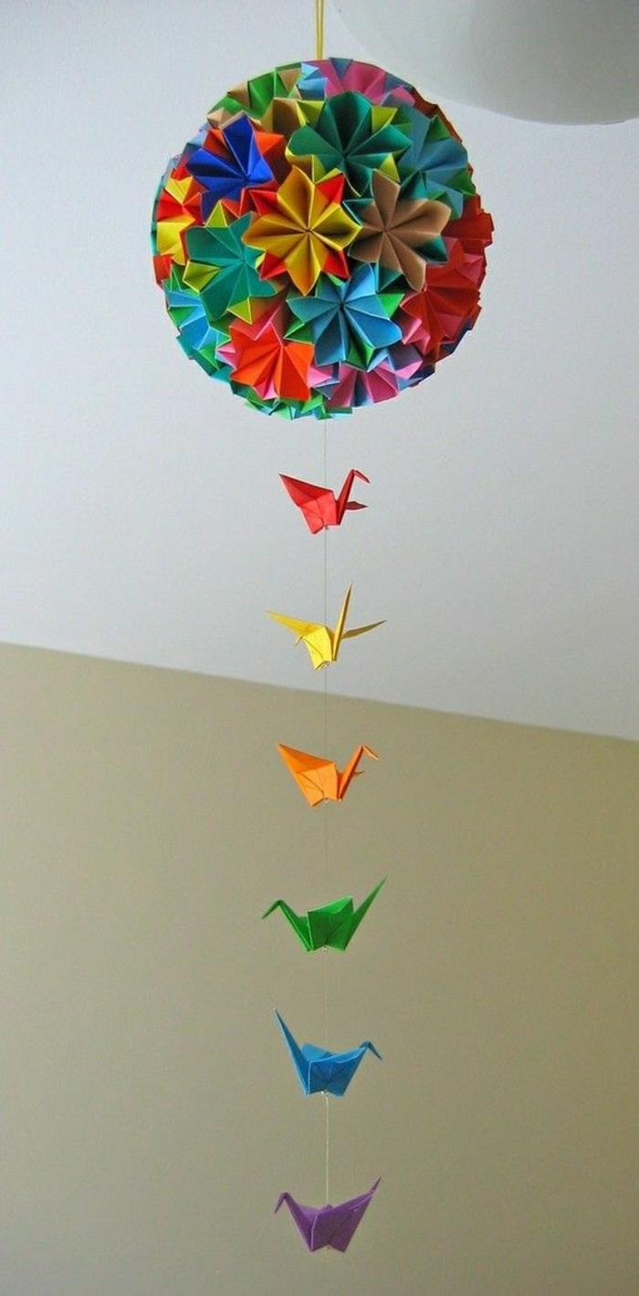 Origami-Ball-Kraniche-Deko