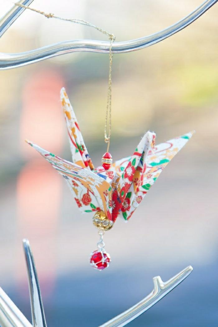 Origami-Kranich-Element-Schmuck-Kette