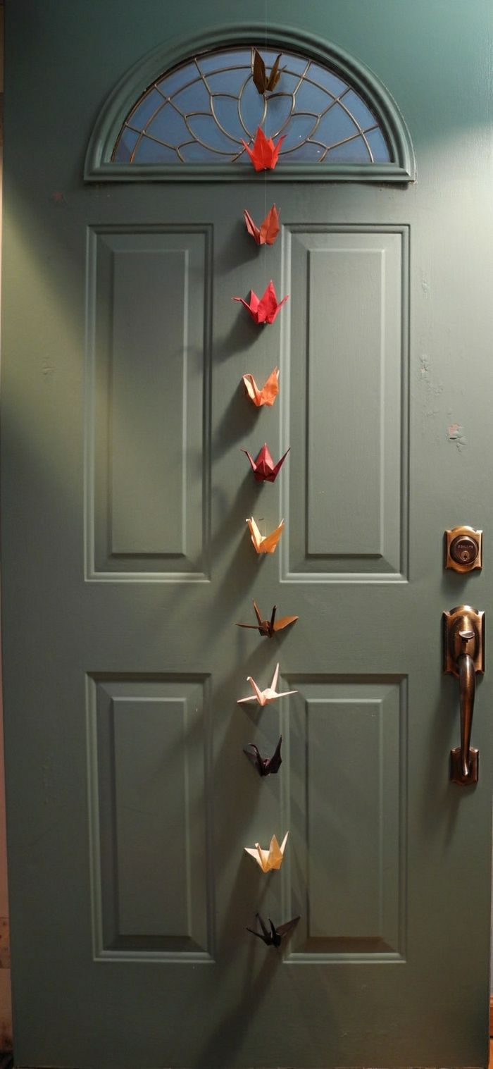 Origami-Kraniche-Girlande-Tür-Dekoration