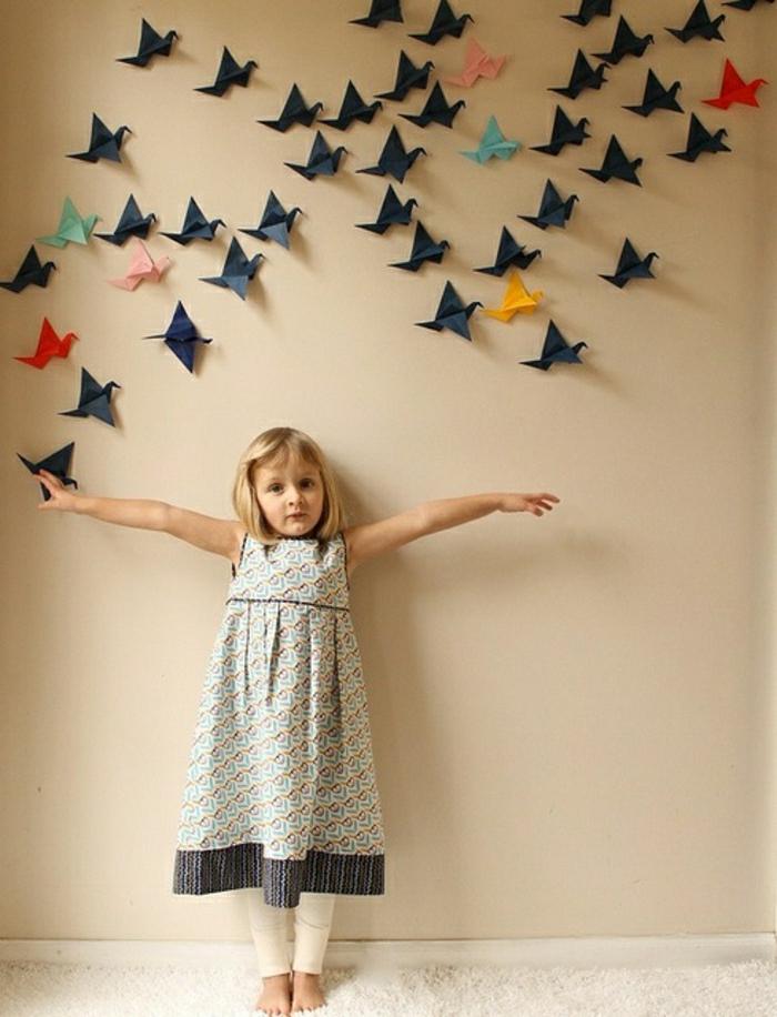 Origami-Kraniche-Wanddeko-Kinderzimmer