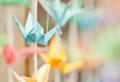 40 Beispiele für Origami Kranich Dekoration