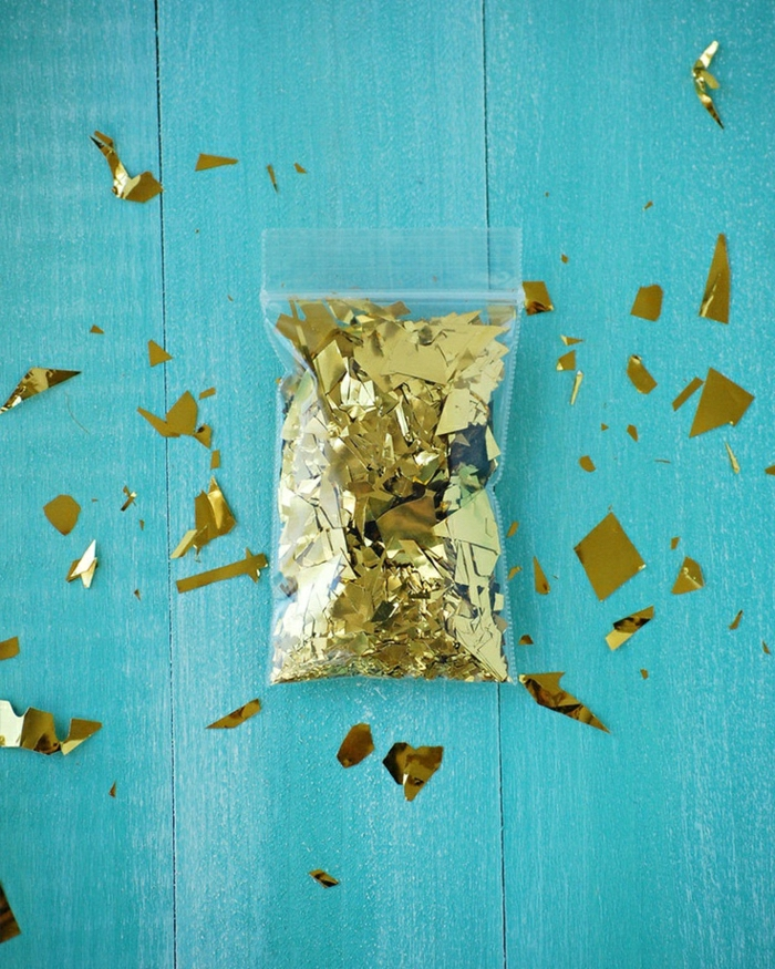 Party-Idee-goldenes-Glanzpapier