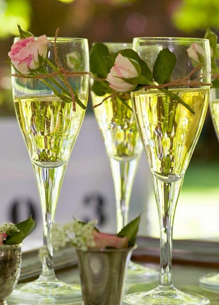 Rose-Champagner-Gläser