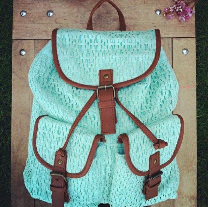 Rucksack-Damen-Minze-Farbe