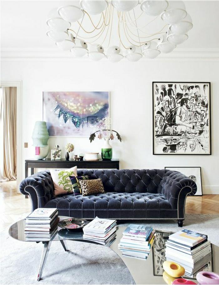 Samt-Chesterfield-Sofa-Kaffeetisch-Glas-modernes-Design