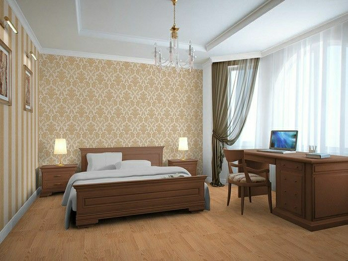 goldene tapete schlafzimmer. Black Bedroom Furniture Sets. Home Design Ideas