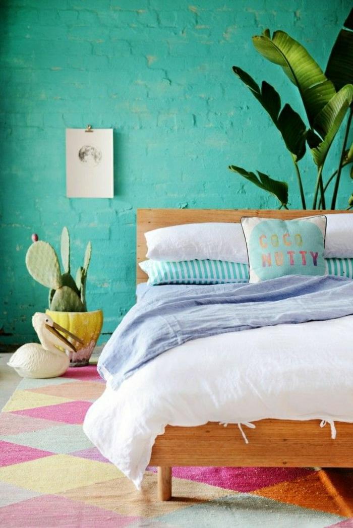 Schlafzimmer-frische-Farben-schöne-Bettwäsche