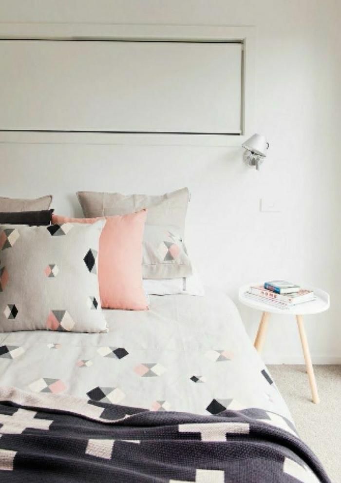 Schlafzimmer-gemütlich-Ikea-Bettwäsche-Pastellfarben