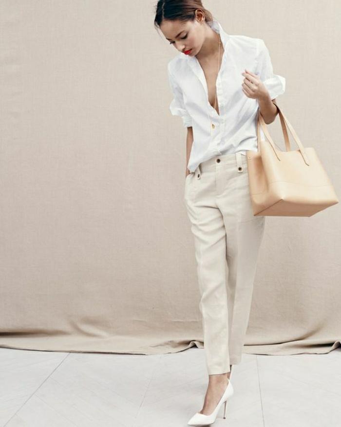 Sommerkleider-Boy-Shirt-weiß-Stöckelschuhe-elegant