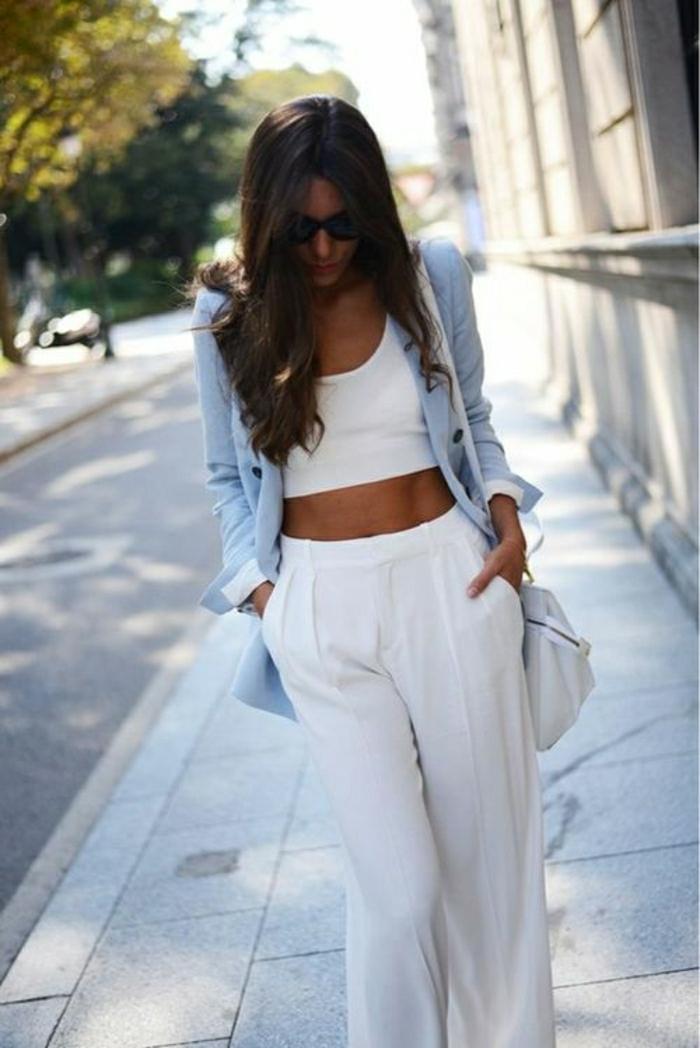 Sommerkleider-in-Weiß-zwei-Teile-Sakko-Tasche