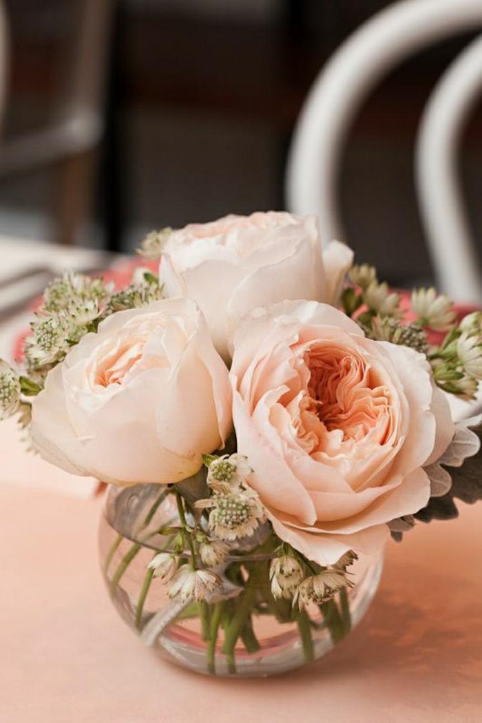 Tisch-Dekoration-Vase-Blumen