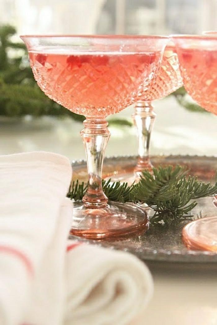 Vintage-Champagner-Gläser