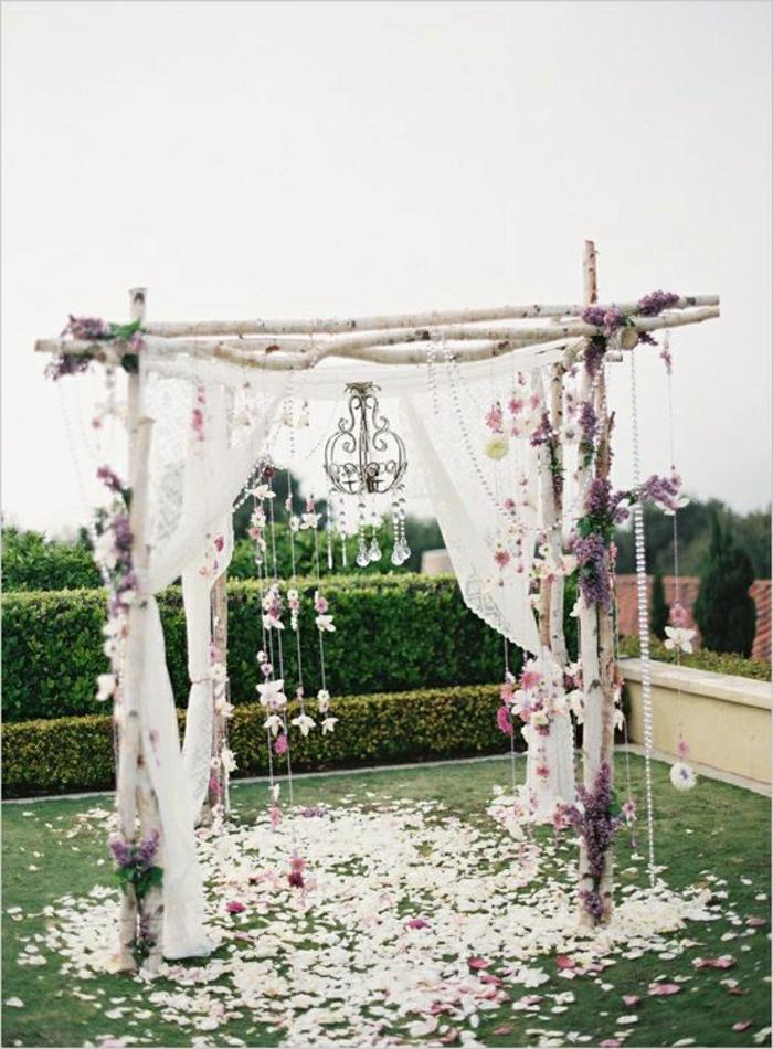 Vintage-Hochzeit-Altar-Blumen-Dekoration