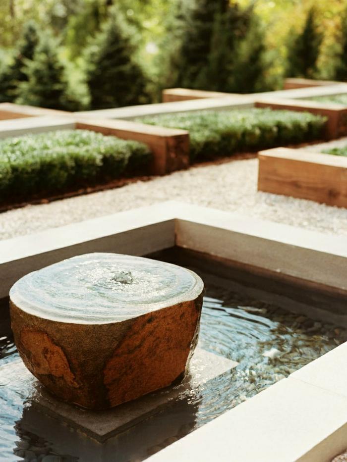 Wasserbrunnen-Garten-modern