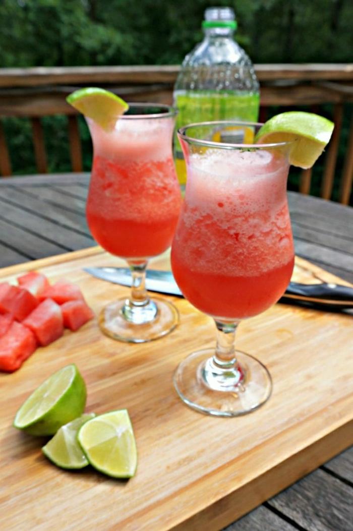 Wassermelone-Limone-Saft-Coktail-alkoholfrei