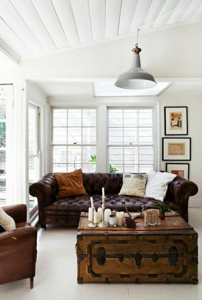 Wohnzimmer-Chesterfield-Sofa-hölzerner-Kasten-Tisch