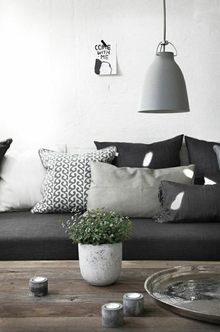 Wohnzimmer-skandinavisches-Interieur-verschiedene-Grautöne