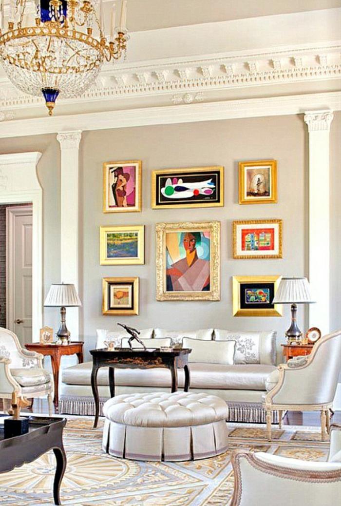 aristokratisches-Wohnzimmer-bunte-moderne-Wandbilder