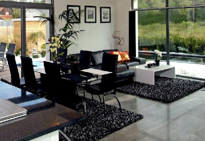 asiatische-wohnideen-moderne-schwarze-möbel