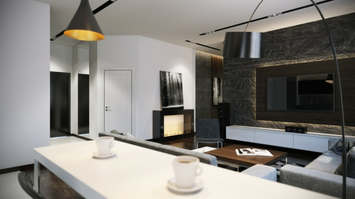 attraktives-design-von-bogenlampe-in-einer-küche