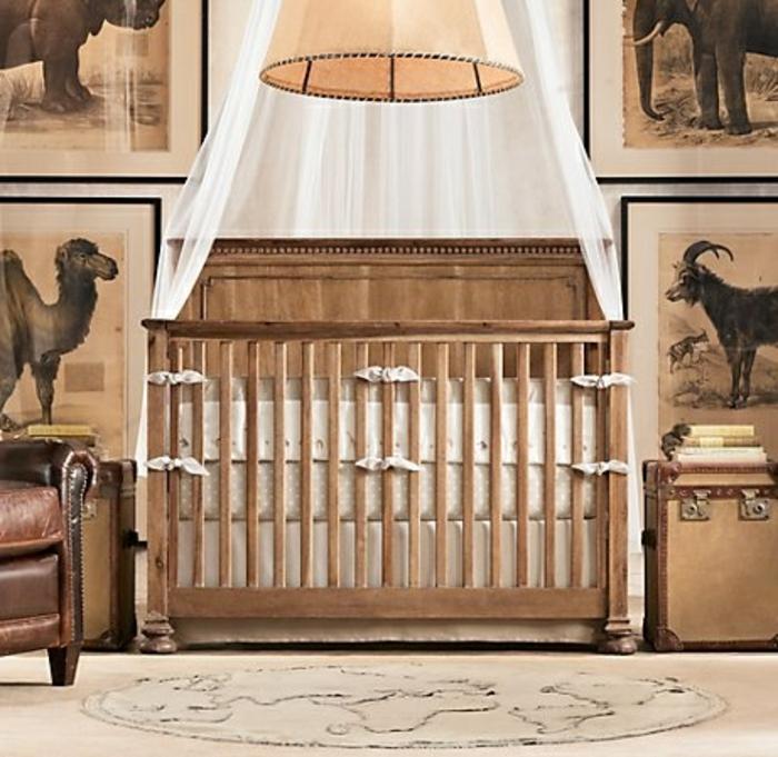 babyzimmer-design-hölzernes-bett