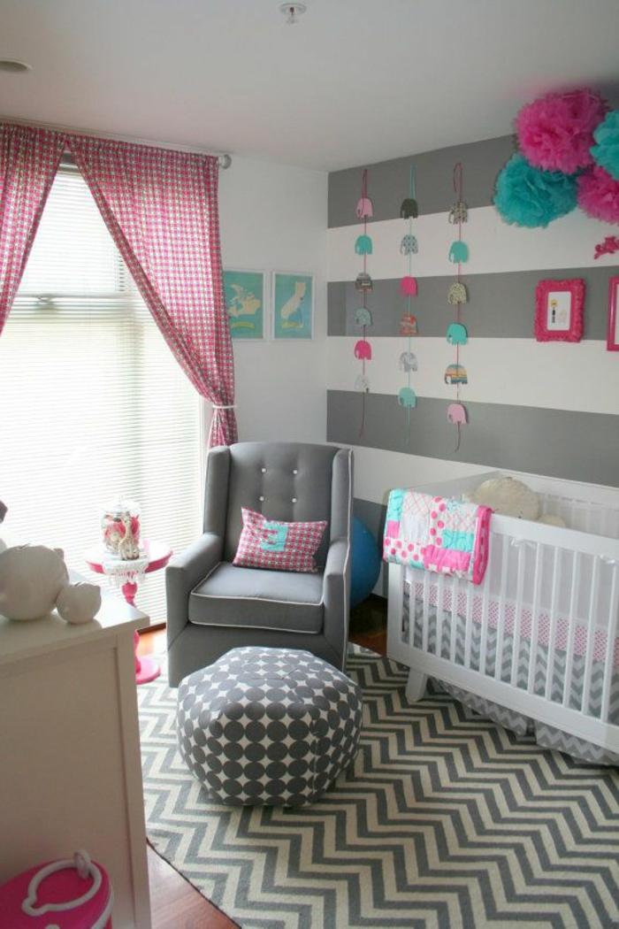 babyzimmer-design-rosige-schöne-vorhänge