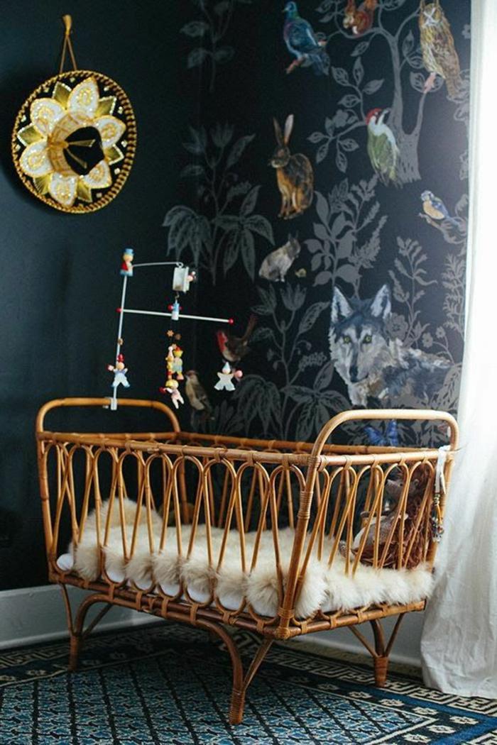 babyzimmer-design-schwarze-wände