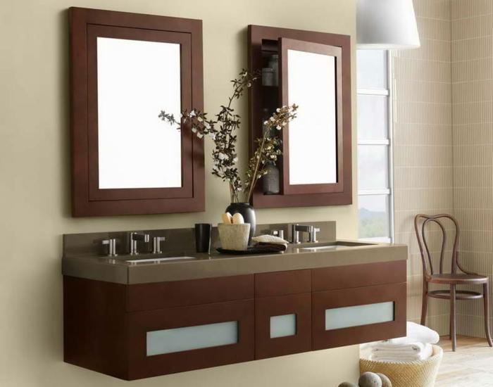 badeinrichtungen-ideen-hölzernes-modell-vom-waschbecken