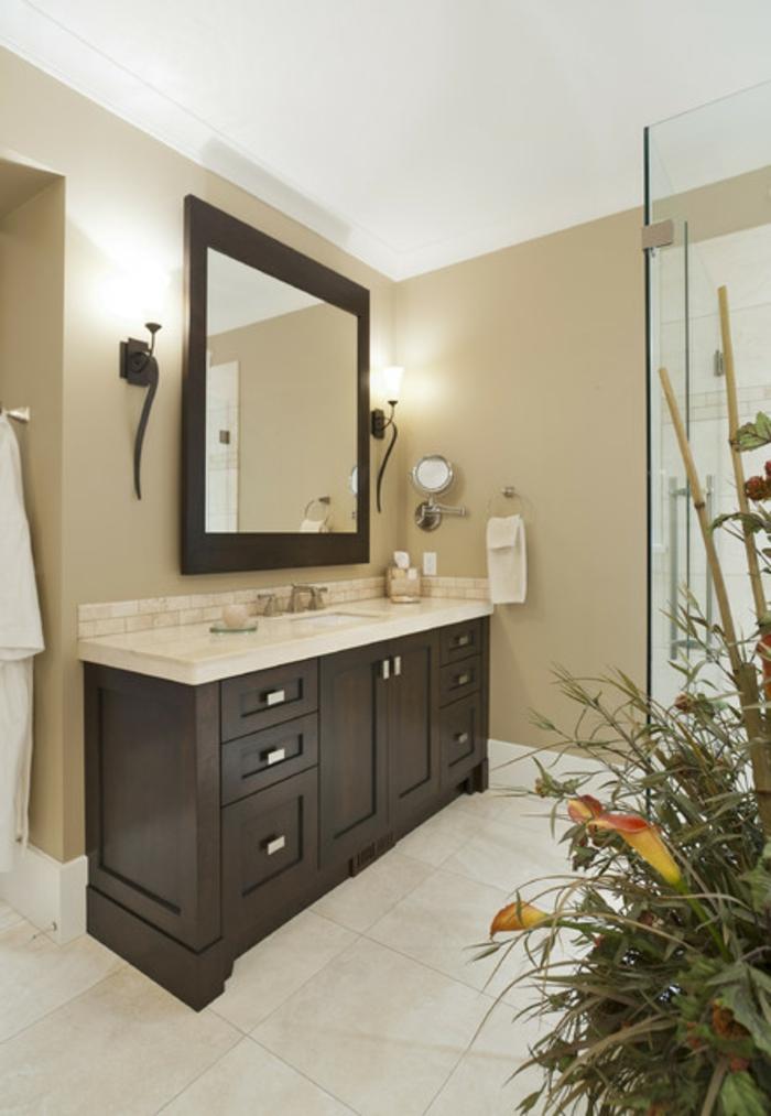 Badeinrichtungen ideen super schöner großer spiegel