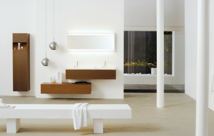 Badeinrichtungen ideen weißes aussehen