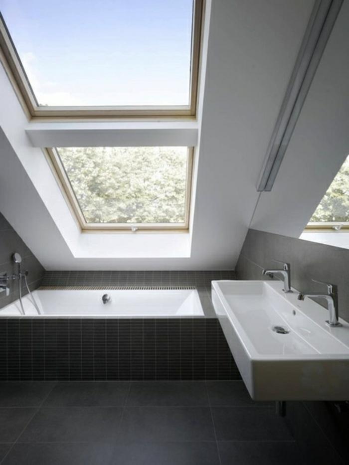 Badewanne unter Dachschräge: 22 süße Modelle! - Archzine.net