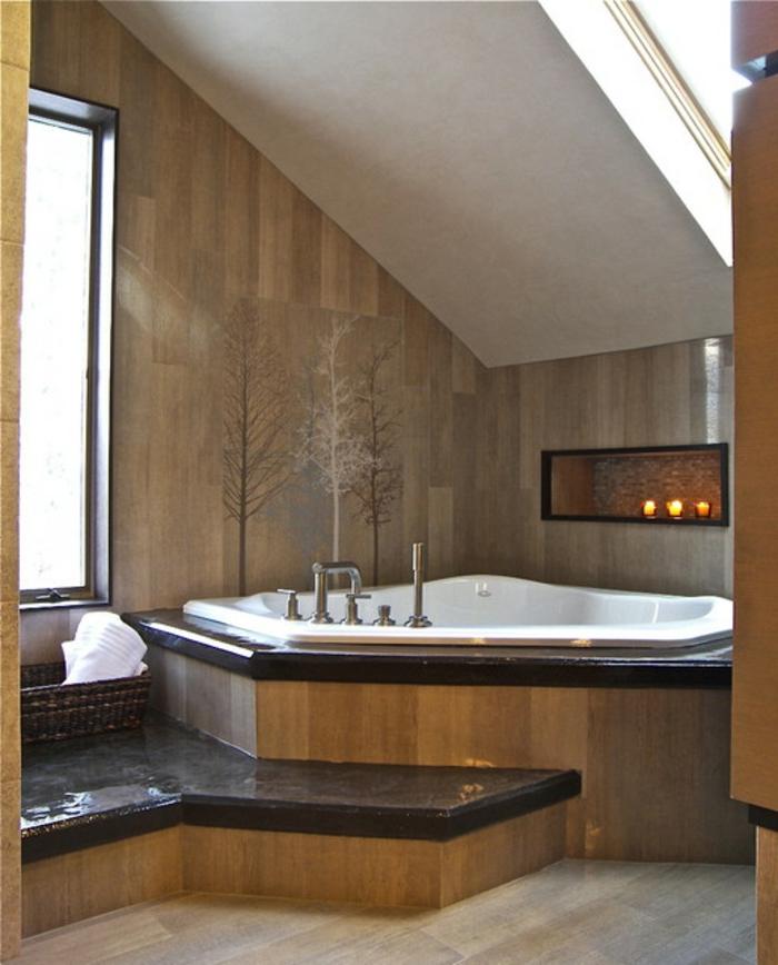 badewanne-unter- dachschräge-vieleckiges-design