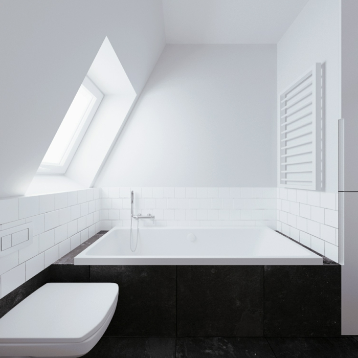 badewanne-unter- dachschräge-weißes-schönes-modell