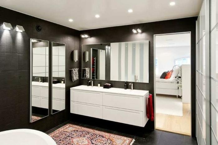 badezimmer-in-schwarz-attraktive-deckenleuchten