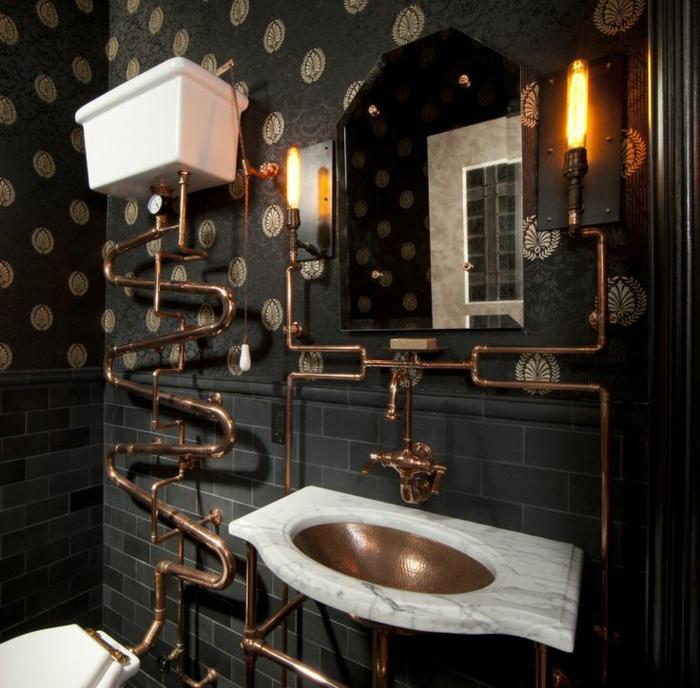 Luxus badezimmer schwarz  38 Beispiele für Badezimmer in Schwarz! - Archzine.net