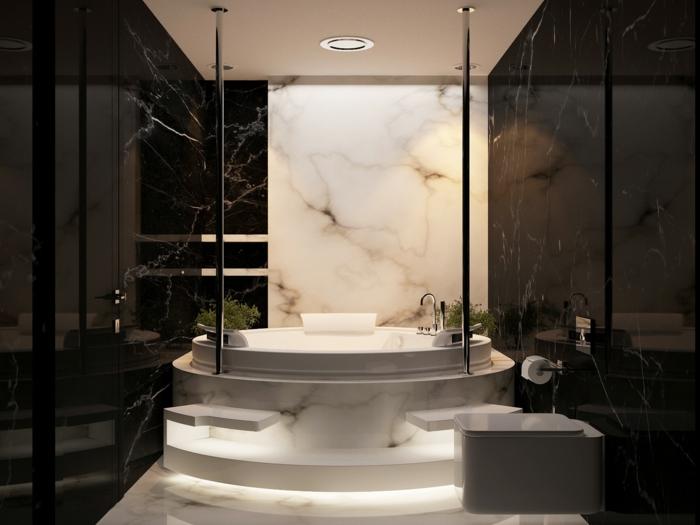 38 beispiele f r badezimmer in schwarz - Marmor badezimmer ...